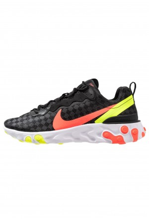 Nike REACT ELEMENT 55 - Sneakers laag black/flash crimson/hyper crimson/volt/whiteNIKE202677