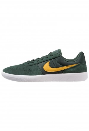 Nike SB TEAM CLASSIC - Skateschoenen midnight green/yellow ochre/whiteNIKE202536