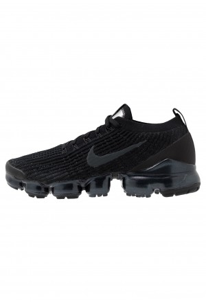 Nike AIR VAPORMAX FLYKNIT - Sneakers laag black/anthracite/white/metallic silverNIKE202361