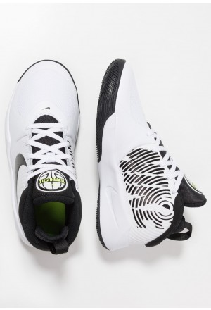 Nike TEAM HUSTLE D 9 - Basketbalschoenen white/black/voltNIKE303545