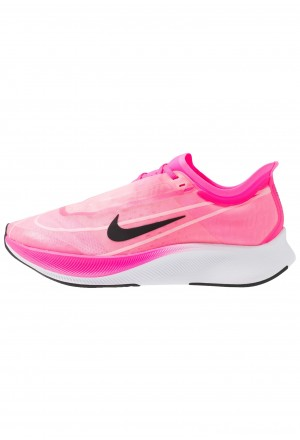 Nike ZOOM FLY 3 - Hardloopschoenen neutraal pink blast/true berry/atmosphere grey/whiteNIKE101809