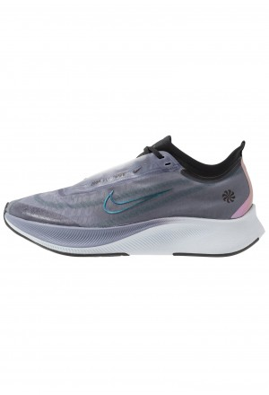 Nike ZOOM FLY 3 - Hardloopschoenen neutraal sanded purple/black/midnight turquoise/stellar indigo/football grey/ghostNIKE101696