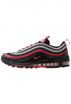 Nike AIR MAX 97 - Sneakers laag black/university red/metallic silverNIKE202375