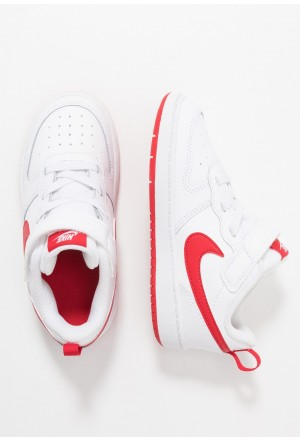 Nike COURT BOROUGH 2 - Sneakers laag white/university redNIKE303134