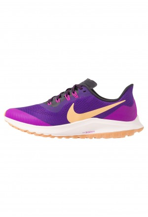 Nike AIR ZOOM PEGASUS 36 TRAIL - Trail hardloopschoenen voltage purple/celestial gold/oil grey/hyper violet-lt soft pink-copper moonNIKE101783