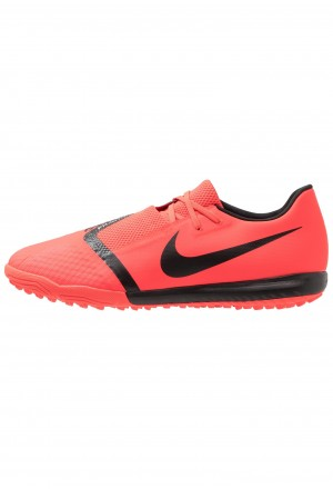 Nike PHANTOM ACADEMY TF - Voetbalschoenen voor kunstgras bright crimson/black/metallic silverNIKE202991