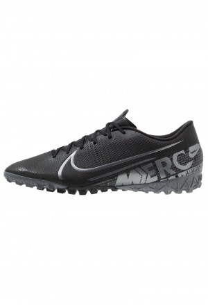 Nike MERCURIAL VAPOR 13 ACADEMY TF - Voetbalschoenen voor kunstgras black/metallic cool grey/cool greyNIKE203055