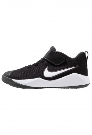 Nike TEAM HUSTLE QUICK 2 - Basketbalschoenen black/white/anthracite/voltNIKE303577