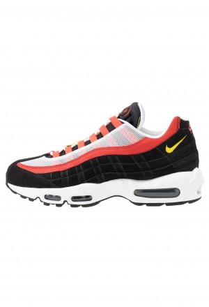 Nike AIR MAX 95 ESSENTIAL - Sneakers laag white/chrome yello/black/crimsonNIKE202268