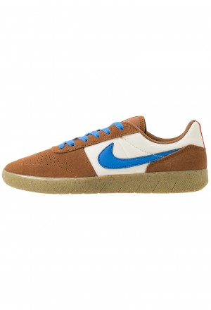 Nike SB TEAM CLASSIC - Skateschoenen light british tan/pacific blue/pale ivory/bright crimson/light brownNIKE202539