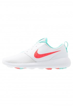 Nike Golf ROSHE - Golfschoenen white/hot punch/aurora greenNIKE203173
