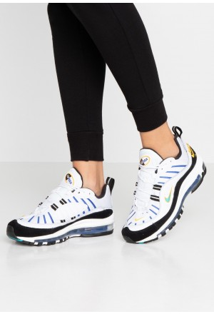 Nike AIR MAX 98 PRM - Sneakers laag white/university gold/black/game royalNIKE101510