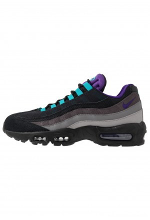 Nike AIR MAX 95 LV8 - Sneakers laag black/court purple/teal/thunder grey/gunsmoke/atmosphere greyNIKE202454