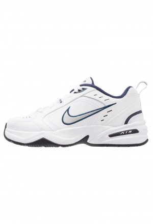 Nike AIR MONARCH IV - Sneakers laag white/metallic silverNIKE202279