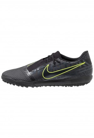 Nike PHANTOM ACADEMY TF - Voetbalschoenen voor kunstgras black/voltNIKE202990