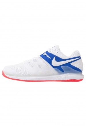 Nike AIR ZOOM VAPOR X - Tennisschoenen voor alle ondergronden white/game royal/flash crimsonNIKE202940