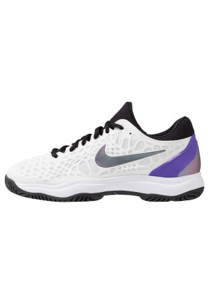 Nike AIR ZOOM CAGE HC - Tennisschoenen voor alle ondergronden white/bright violet/psychic purple/blue stardust/hyper jade/light aquaNIKE101816