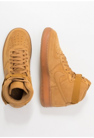 Nike AIR FORCE 1  - Sneakers hoog wheat/light brownNIKE303240