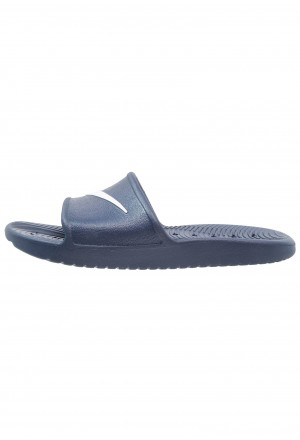 Nike KAWA SHOWER - Badslippers midnight navy/whiteNIKE202693