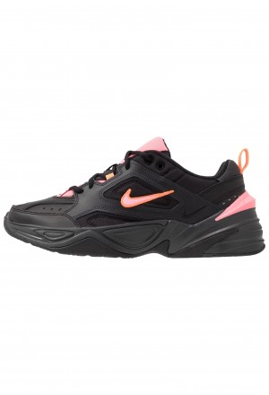 Nike M2K TEKNO - Sneakers laag black/sunset pulse/off noir/total orangeNIKE202377