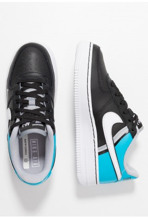 Nike AIR FORCE 1 LV8  - Sneakers laag black/white/light current blue/wolf greyNIKE303466