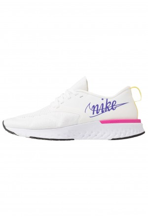 Nike ODYSSEY REACT 2 FK JDI - Hardloopschoenen neutraal summit white/psychic purple/laser fuchsia/yellow pulse/whiteNIKE101920