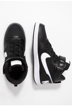 Nike COURT BOROUGH MID - Sneakers hoog black/whiteNIKE303471