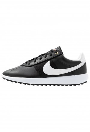 Nike Golf CORTEZ - Golfschoenen black/white/metallic goldNIKE101727