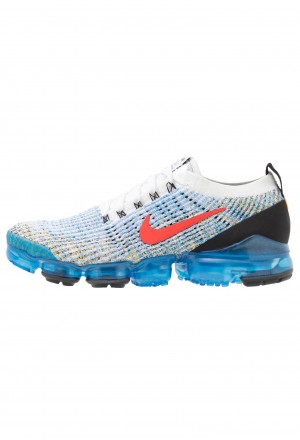 Nike AIR VAPORMAX FLYKNIT - Sneakers laag white/habanero red/university gold/photo blue/black/metallic silverNIKE202365
