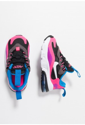 Nike AIR MAX 270 REACT - Sneakers laag black/white/hyper pink/vivid purpleNIKE303404