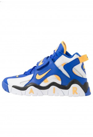 Nike AIR BARRAGE MID - Sneakers hoog white/laser orange/racer blue/blackNIKE202583