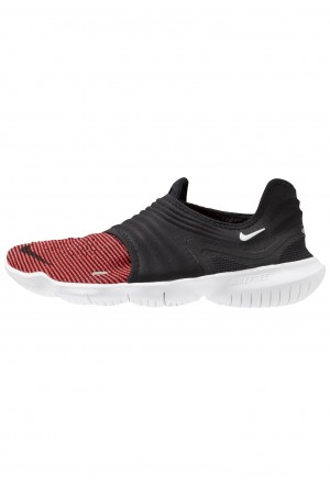 Nike FREE RN FLYKNIT 3.0 - Loopschoen neutraal black/bright crimson/whiteNIKE202951