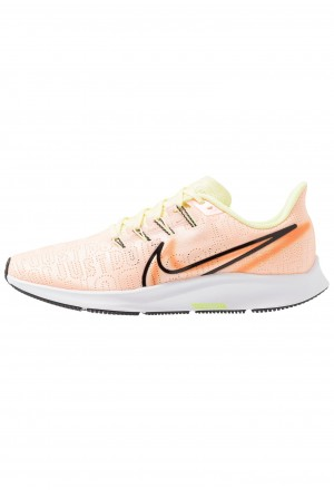 Nike AIR ZOOM PEGASUS 36 PRM RISE - Hardloopschoenen neutraal crimson tint/black/luminous green/orange trance/white/electric greenNIKE101700