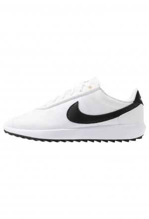 Nike Golf CORTEZ - Golfschoenen white/black/metallic goldNIKE101728