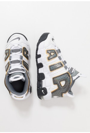 Nike AIR MORE UPTEMPO SE - Sneakers hoog white/anthracite/metallic goldNIKE303343