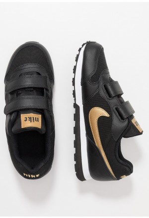 Nike MD RUNNER - Sneakers laag black/metallic gold/whiteNIKE303470