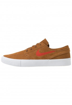 Nike SB ZOOM JANOSKI - Sneakers laag light british tan/mystic red/white/gum light brownNIKE202286
