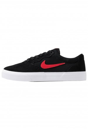 Nike SB CHRON SLR - Sneakers laag black/university  redNIKE202243