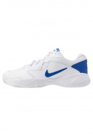 Nike COURT LITE 2 - Tennisschoenen voor kleibanen white/game royal/flash crimsonNIKE202820