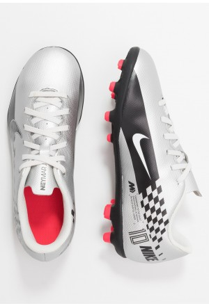 Nike VAPOR 13 CLUB NEYMAR FG/MG - Voetbalschoenen met kunststof noppen chrome/black/red orbit/platinum tint/whiteNIKE303775