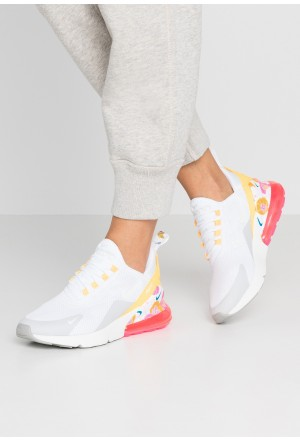 Nike AIR MAX 270 - Sneakers laag white/summit white/metallic silver/laser orange/hyper pinkNIKE101574