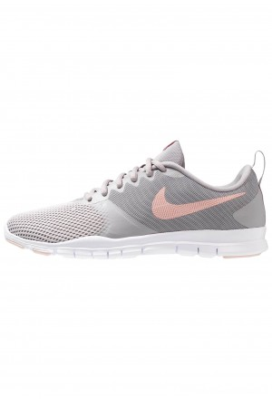Nike FLEX ESSENTIAL TR - Sportschoenen atmosphere grey/pink quartz/echo pink/vast grey/whiteNIKE101635