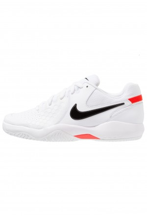 Nike AIR ZOOM RESISTANCE - Tennisschoenen voor kleibanen white/black/bright crimsonNIKE203014