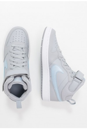 Nike COURT BOROUGH MID 2 - Sneakers hoog wolf grey/celestine blue/whiteNIKE303438