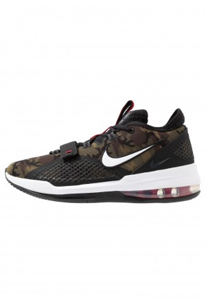 Nike AIR FORCE MAX LOW - Basketbalschoenen black/white/university redNIKE203037