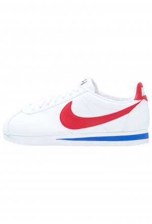 Nike CLASSIC CORTEZ LEATHER - Sneakers laag white/varsity red/varsity royalNIKE101450