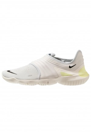Nike FREE RN FLYKNIT 3.0 - Loopschoen neutraal pure platinum/black/luminous greenNIKE202950