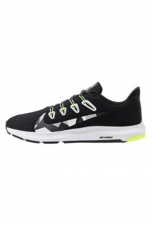 Nike QUEST 2 - Hardloopschoenen neutraal black/white/iron green/ghost green/particle grey/sapphireNIKE202775