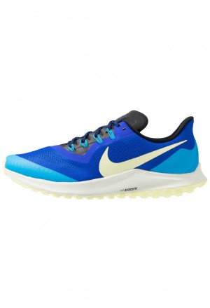 Nike AIR ZOOM PEGASUS 36  - Trail hardloopschoenen racer blue/luminous green/blue hero/spruce aura/blackNIKE202780
