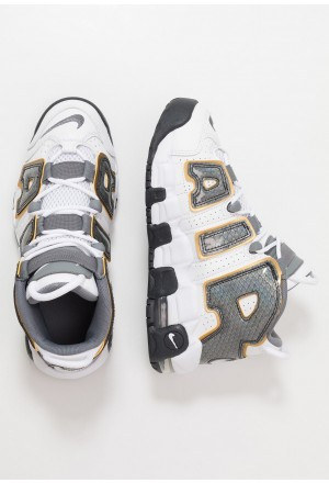 Nike AIR MORE UPTEMPO SE - Sneakers hoog white/anthracite/metallic goldNIKE303357